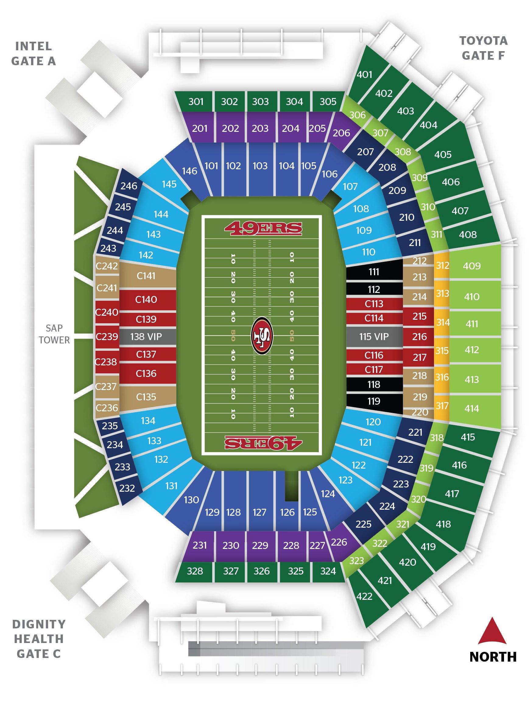 Levi's Stadium chart